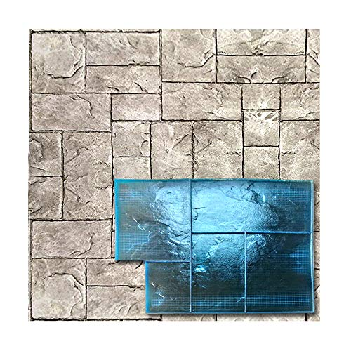 Polyurethane Mat Stamp MINSKY AVENUE | Texturing Skin Slate Pattern Stone Decorative Concrete Cement Imprint Polyurethane Texture Stamp Mat Polyurethane Stamping
