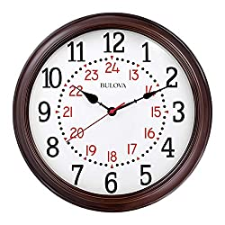 Bulova C4841 Station Master Wall Clock, Espresso Finish