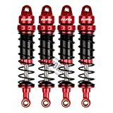 INJORA RC Shock Absorber Set 4pcs RC Dampers for 1/10 RC Crawler Axial SCX10 90046 AXI231017 Traxxas TRX-4 D90 (90mm)