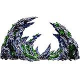 Acuario Vista A La Montaña Piedra Ornamento Árbol Roca Cueva Fish Tank Decoración Artística ROCKERY Fish Hiding Cave Stone Decoración Un Mundo De Ensueño Compuesto De Rocentura Mágica Y Hermosa,A