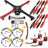 USAQ F450 450mm Quadcopter Drone Kit F3 Flight Controller 30A ESC 2212 Motor Kit