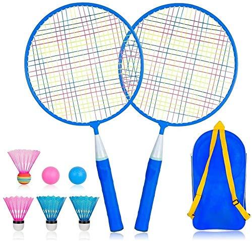 RENFEIYUAN Conjunto de Raquetas de bádminton Badminton Raqueta (Color : Blue)