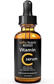 Vitamin C Serum For Face 60 ml, Organic Vitamin C E Vegan Hyaluronic Acid
