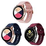Onedream Correa Compatible con Samsung Galaxy Watch Active/Active 2 44mm 40mm Pulsera Silicona Mujer Hombre, Repuesto Compatible con Samsung Galaxy Watch 42mm/ Galaxy Watch 3 41mm, 3 Colores