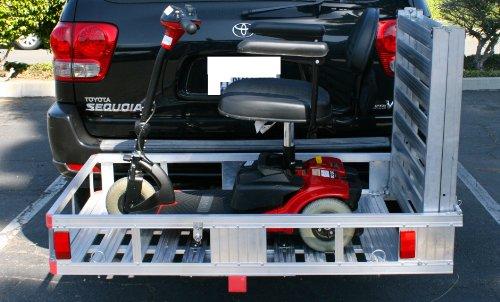 """MAXXHAUL 70275 Aluminum Cargo Carrier   With 60"""" Folding Ramp   53.5"""" x 29"""""""