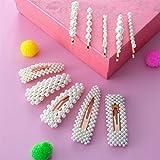 Pearl Hair Clip, Comius Sharp 10 Piezas Perlas Pinzas para el Cabello de Horquillas, Artificiales de Pearl Hair Clip para Damas y niñas (A)