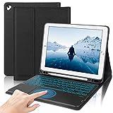 D DINGRICH Custodia con Tastiera Touchpad per iPad 10.2/iPad 8a Gen 2020/iPad 7a Gen 2019/iPad...