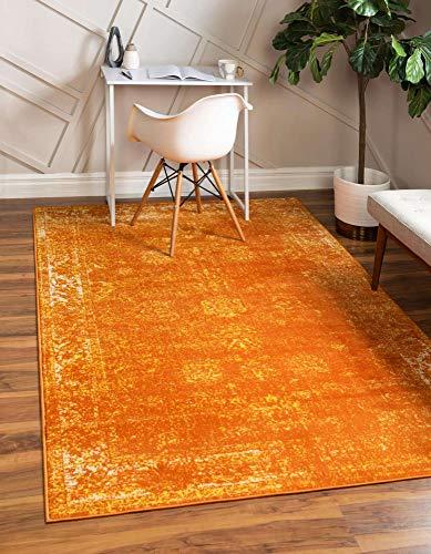 Unique Loom Sofia Collection Traditional Vintage Orange Area Rug (5' x 8')