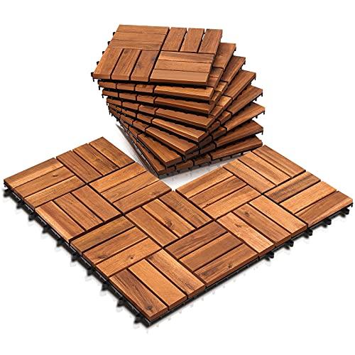 Einfeben -   5m² Holzfliesen