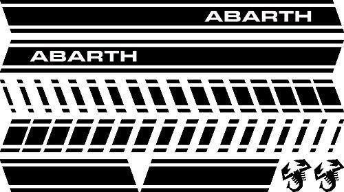 mural stickers Adesivi Laterali Strisce Sport Stripes Adesivo Laterale per 500 Turbo Abarth Tuning Adesivi Auto Decorazioni Accessori Nero 2 Pezzi