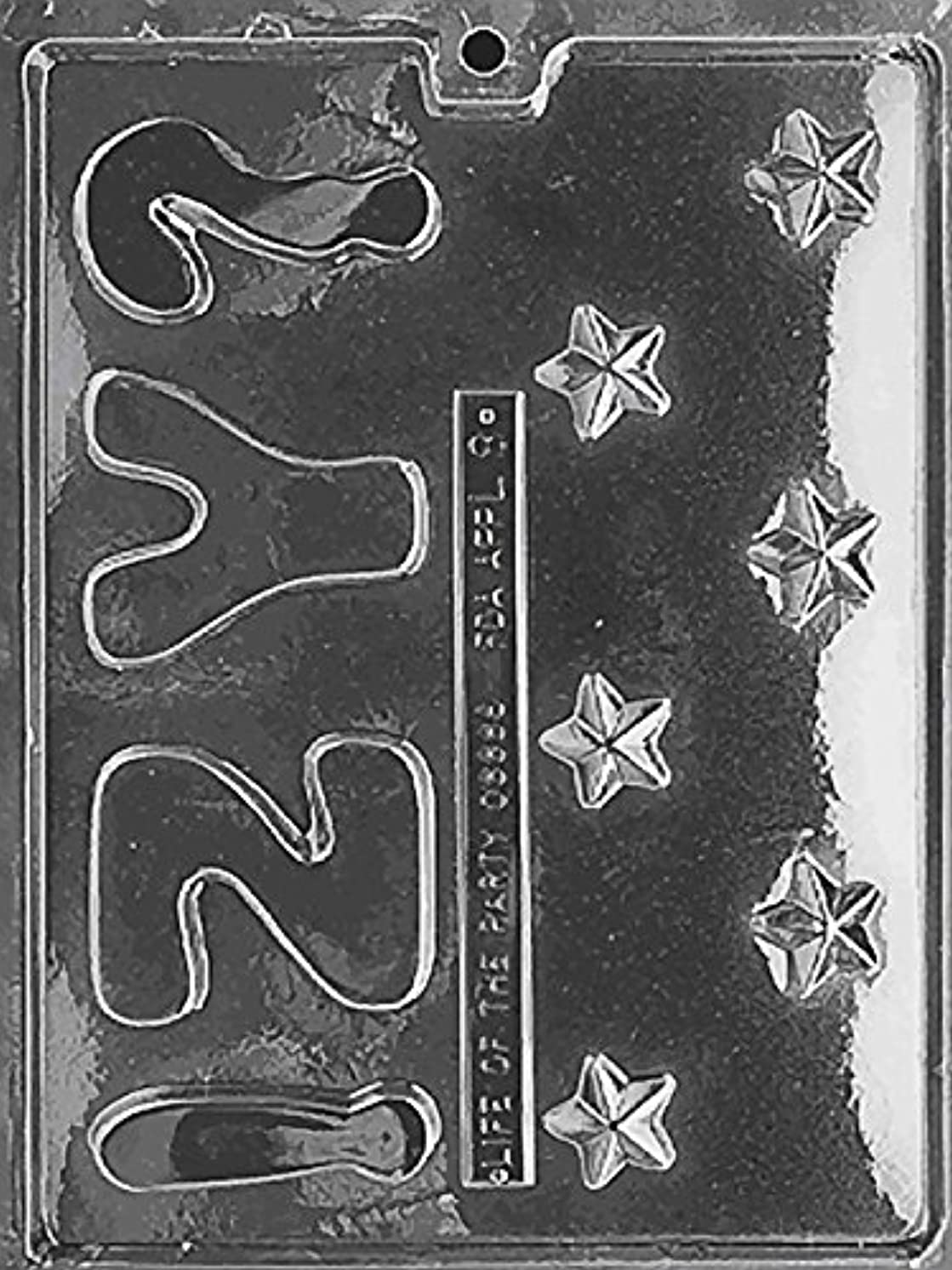 CybrTrayd L008 Letters and Numbers Soap Mold, Y, Z, Stars with Exclusive Cybrtrayd Copyrighted Soap Molding Instructions