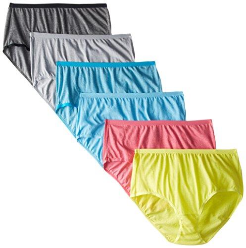 Fruit of the Loom Women's Underwear Beyond Soft Panties (Regular & Plus Size), Brief - 6 Pack -...