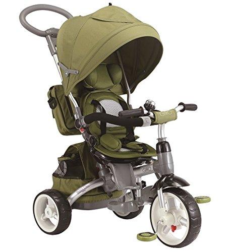 Baby's Clan GIRO.12 - Passeggino/Triciclo Multifunzione 6 in 1, Verde Oliva
