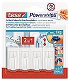 Sistema de fijación Tesa PowerStrips, plástico, Blanco, 4 Haken