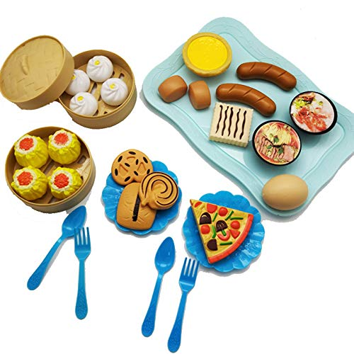 HNLY Juguetes para NiñOs, Juguetes De Comida Simulada, Juegos De Juguetes De Comida para Hamburguesas, Merienda Juguetes De Cocina Cognitiva para Cocinar