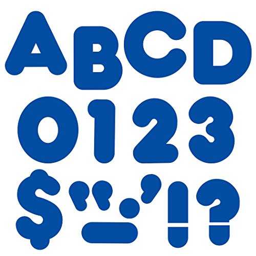 "TREND enterprises, Inc. Royal Blue 2"" Casual Uppercase Ready Letters"