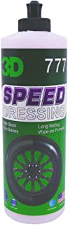 3D Speed Tire Dressing | Long Lasting, High Shine, Wipe On Tire Gloss | Non-Greasy Water Based Protectant | Made in USA | ...