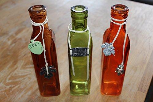 Hanse gelukswerkplaats fles glas decoratie vaas set van 3