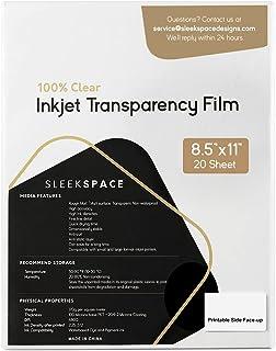 Sleek Space Transparency Film for Inkjet Printers | 100% Clear, Non-waterproof, Anti-curl | High Ink Density, Quick Dry In...
