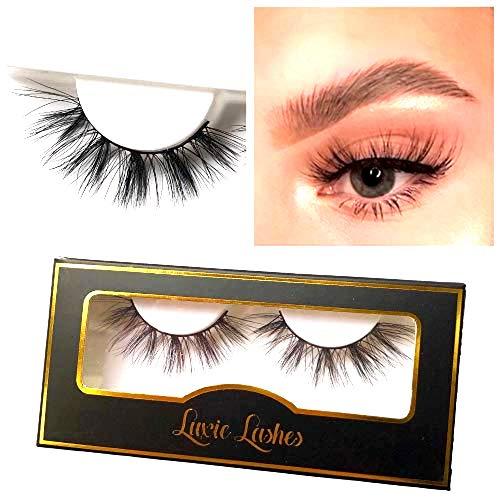 LUXIE LASHES 3D Luxury Fluffy Faux Nerz natürliche Streifen gefälschte lange Wimpern Multipack - Grausamkeit frei (Raquel)
