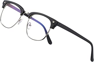 COASION Blue Light Blocking Glasses Semi-Rimless Clear Lens Computer Game Eyeglasses Eyewear Frame