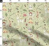 Fee, Wald, Natur, Hirsch, Schmetterling, Marienkäfer, Baby