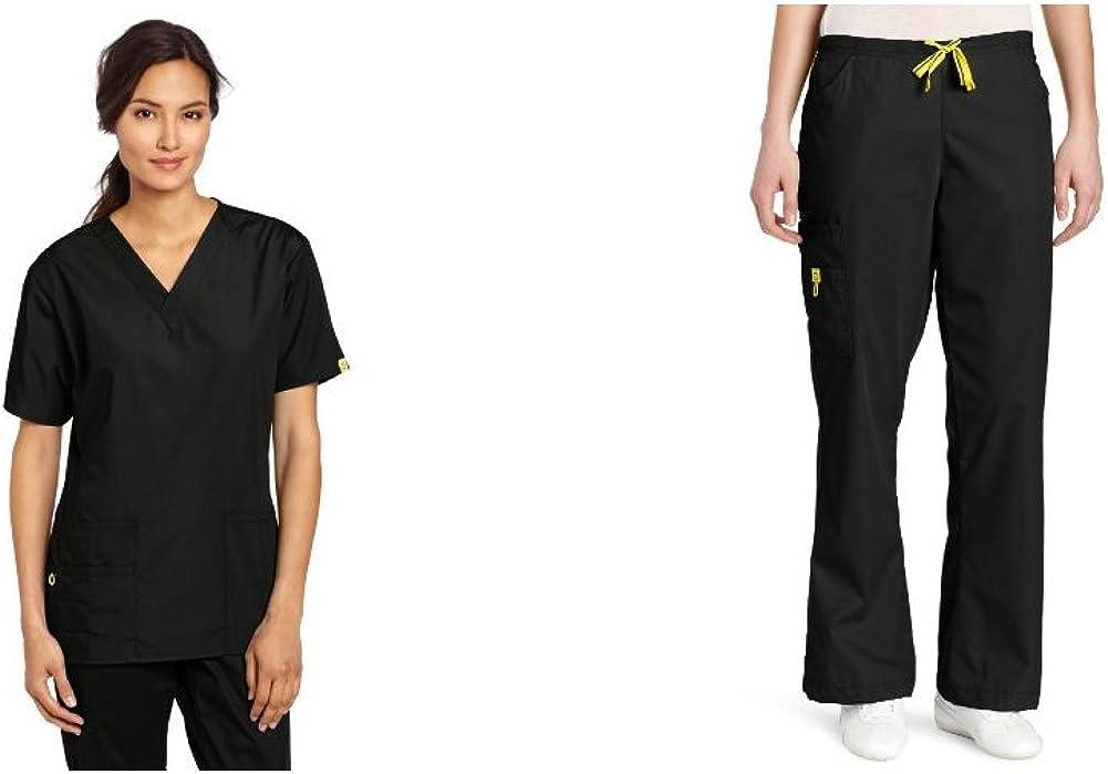 WonderWink Women's Scrubs Bravo 5-Pocket V-Neck Top: Medical Scrubs Shirts: Clothing, Shoes & Jewelry
