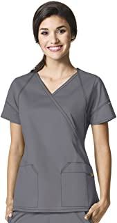 WonderWink womens Fashion Crossover Top Medical Scrubs (pack of 1)