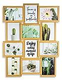 levandeo Holz Bilderrahmen Farbe: Eiche Natur braun hochwertig verarbeitet für 12...