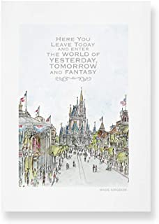 Main Street USA, Quote Art   Art Prints taken from my Original Detailed Illustration & Watercolor.