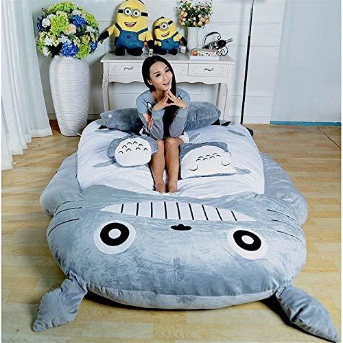 B-fengliu Mein Nachbar Totoro Schlafsack Schlafsofa Einzelbett Doppelbett Matratze für Kinder Warm Cartoon Tatami Sitzsack Mein Nachbar Totoro Sofa / 47.2inches / 74.8inches (Size : 1.2m)