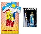 Hermosa mano pintada de la paloma de la confirmación de la Cruz con certificado - regalos católicos