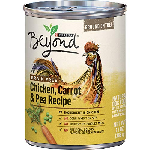 Purina Beyond Grain Free, Natural Pate Wet Dog Food, Grain Free Chicken, Carrot & Pea Recipe - (12) 13 oz. Cans