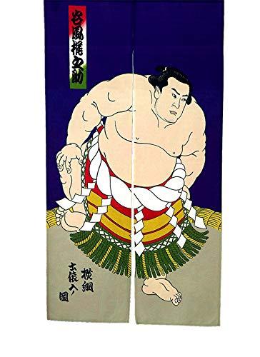 LIGICKY Noren - Cortina de Estilo japonés para Puerta con diseño de Luchador de Sumo Impreso, para decoración del hogar, 85 x 150 cm