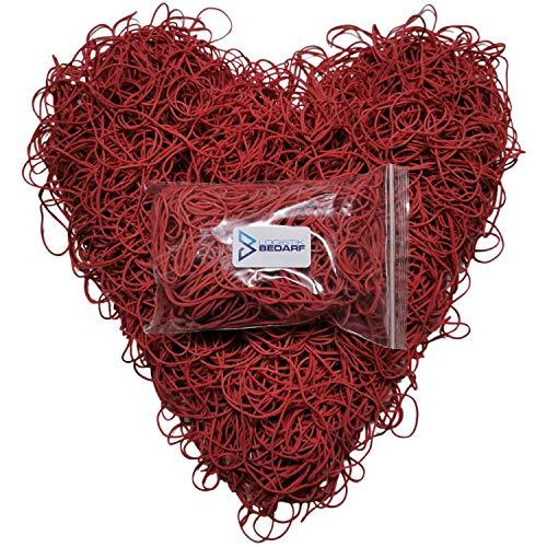 1kg 80Ø rote, elastische Haushaltsgummis, Gummiringe, Gummis, Gummibänder | von Logistikbedarf | flexibel einsetzbar für Büro, Lager und Hausgebrauch | Kautschukring, Kautschukringe