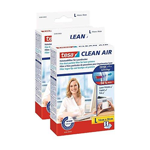Tesa Feinstaubfilter für Laserdrucker, Clean Air (2× Größe L)