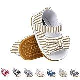 Sandalias de Bebé Niña con Bowknot, Zapatos de Verano para Infantil Pequeños con Suela Blanda (21 EU, Caqui)