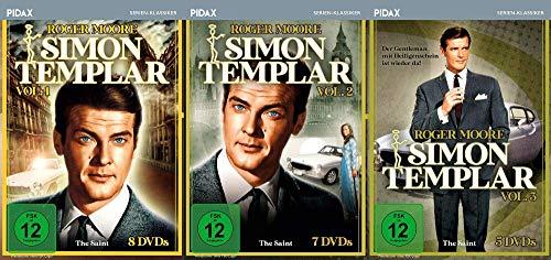 Simon Templar ( The Saint ) 64 Folgen Vol. 1 + 2 + 3 – Die Serie mit James Bond Darsteller Roger Moore 20 DVD Box Collection