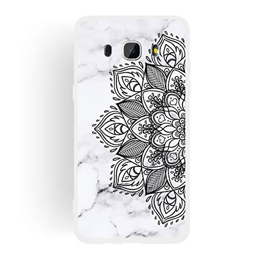 ChoosEU Compatible con Fundas Samsung Galaxy J5 2016 Silicona Dibujos Mármol Creativa Carcasas para Chicas Mujer Hombres, TPU Case Antigolpes Bumper Cover Caso Protección - Flor