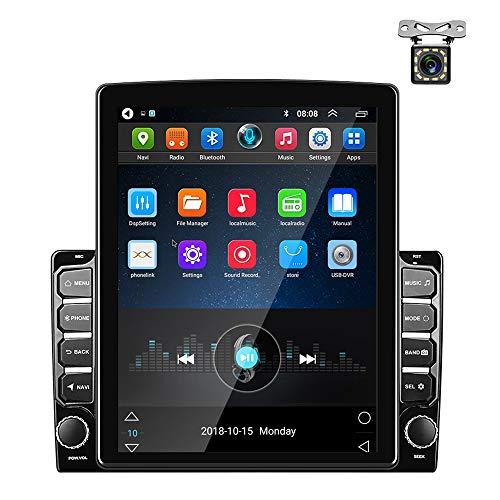 Android Radio de Coche GPS 2 DIN 9,7 Pulgadas Pantalla Táctil Vertical Bluetooth WiFi USB Radio FM Reproductor de Coche Estéreo Enlace Espejo + Cámara de Respaldo