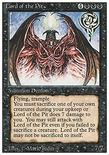 Magic: the Gathering  Lord of The Pit  Revised Edition