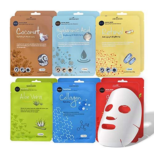 Celavi Essence Facial Face Mask 12 Sheets K-Beauty Skincare Korea Skin Care Moisturizing New D type
