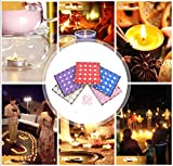 Txyk rauchfreie Kerzen Duftkerze Valentinstag Romantische Kerzen Teelichter Set für Schlafzimmer, Wohnzimmer, Büro 50 Stück rot - 3