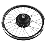 "Bnineteenteam 36V / 48V 350W Juego de Ruedas de Bicicleta eléctrica, Pantalla LED 20 ""Rueda Delantera/Trasera E-Bike Motor Kit de conversión para Bicicleta de Carretera(Motor Trasero)"