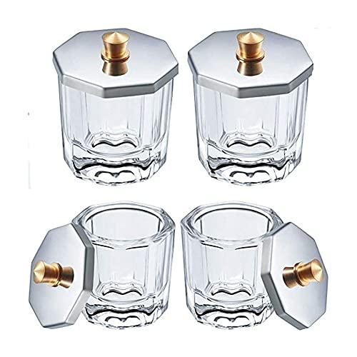 Vasos Cristal Arte de Uñas, 4 Piezas Uñas Dappen Taza, Vaso de...