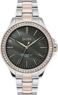 Hugo Boss Black Women'S Black Mother-Of-Pearl Dial Two Tone Stainless Steel Watch - 1502452