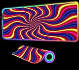 Mouse Pads Trippy Background Gaming Mouse Pad RGB Gaming XXL Laptop USD LED Gaming Carpet Pad Desk Gaming Desk 24 inch x12 inch