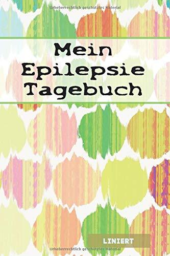 Mein Epilepsie Tagebuch: mit Seitenzahl & Inhaltsverzeichnis| ca. A5 | + 100 Seiten LINIERT | Cover matt | Design001