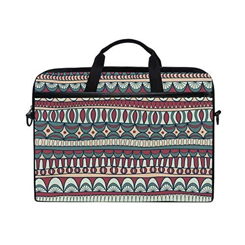 Laptop Sleeve Case,Laptop Bag,Ethinc Boho Floral Pattern Water Briefcase Messenger Notebook Computer Bag with Shoulder Strap Handle,28.5×38 CM/14 Inch