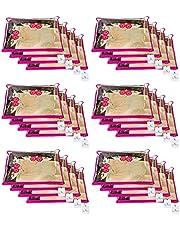 Kuber Industries™ Single Packing Saree Cover 24 pcs Set (Pink)
